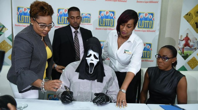 Man From Jamaica Claims Lottery Winnings in 'Scream' Mask